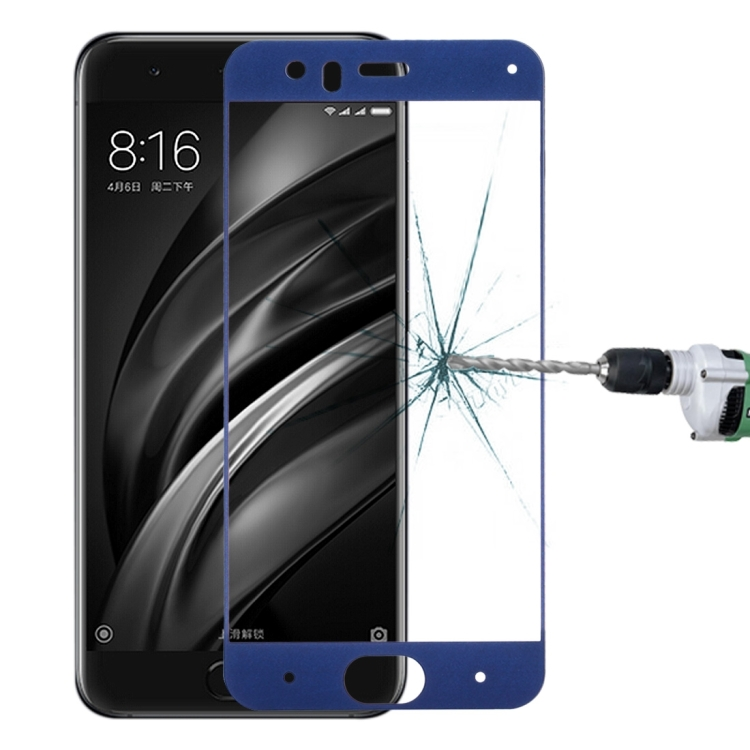 Full Cover Tempered Glass Τζαμάκι Γυαλί Προστασίας Xiaomi Mi 6 Blue
