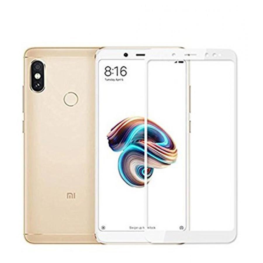 Full Cover Tempered Glass 5D Hybrid Full Glue Τζαμάκι Γυαλί Προστασίας Xiaomi Redmi Note 5/5 Plus White