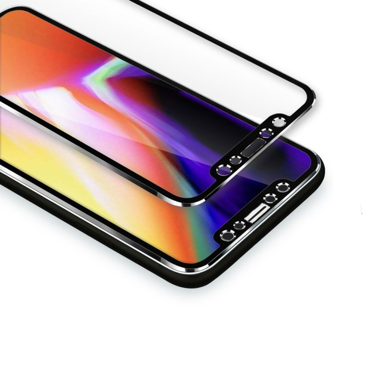 ENKAY 3D Full Cover Tempered Glass iPhone X Black με Κράμα Τιτανίου
