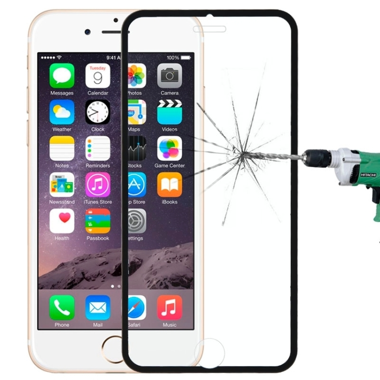 Full Cover Tempered Glass Τζαμάκι Γυαλί Προστασίας iPhone 6/6s Black