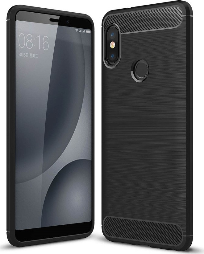 Θήκη Carbon Back Case για Xiaomi Redmi Note 5 Μαύρη