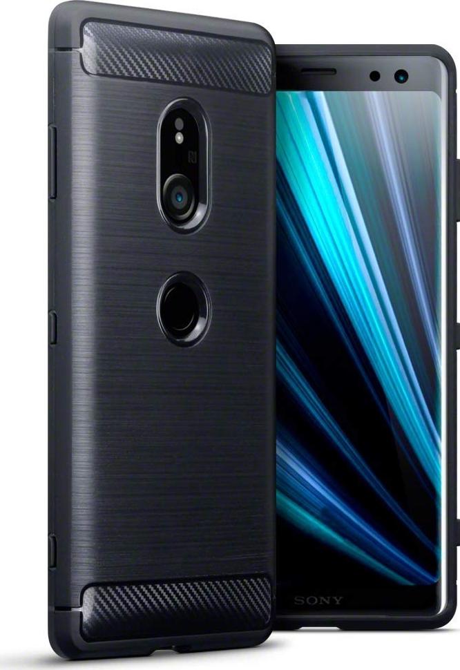 Θήκη Carbon Back Case για Sony Xperia XZ3 Μαύρη