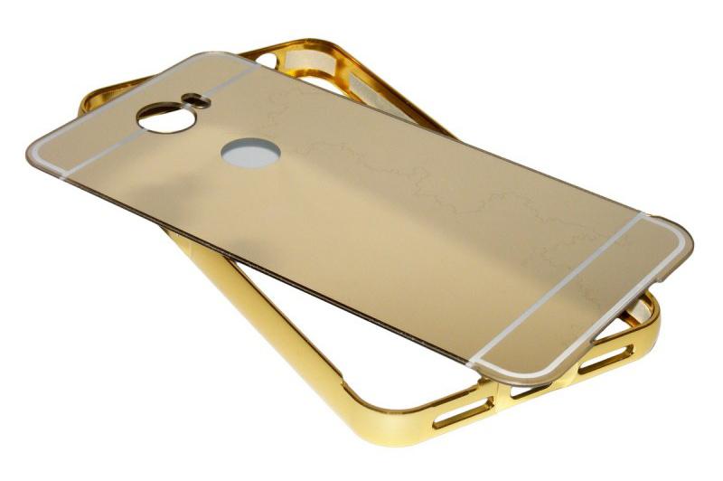 POWERTECH Θήκη Metal Mirror για Huawei Y3II, Gold
