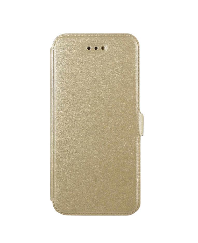 POWERTECH Θήκη Slim Book για Lenovo K6 Note, Gold