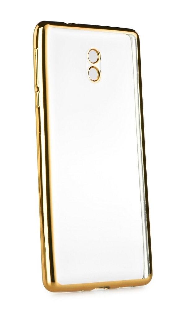 POWERTECH Θήκη Metal TPU για Nokia 3, Gold