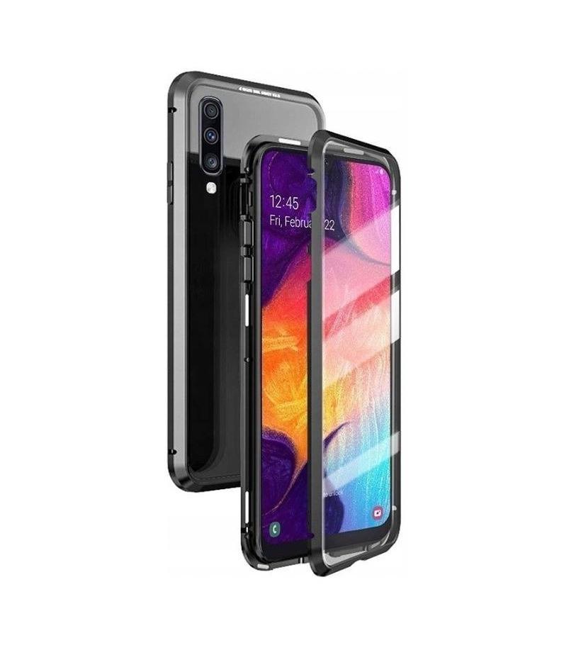 Θήκη Magnetic 360 Case Double Glass για Xiaomi Redmi Note 7 Black