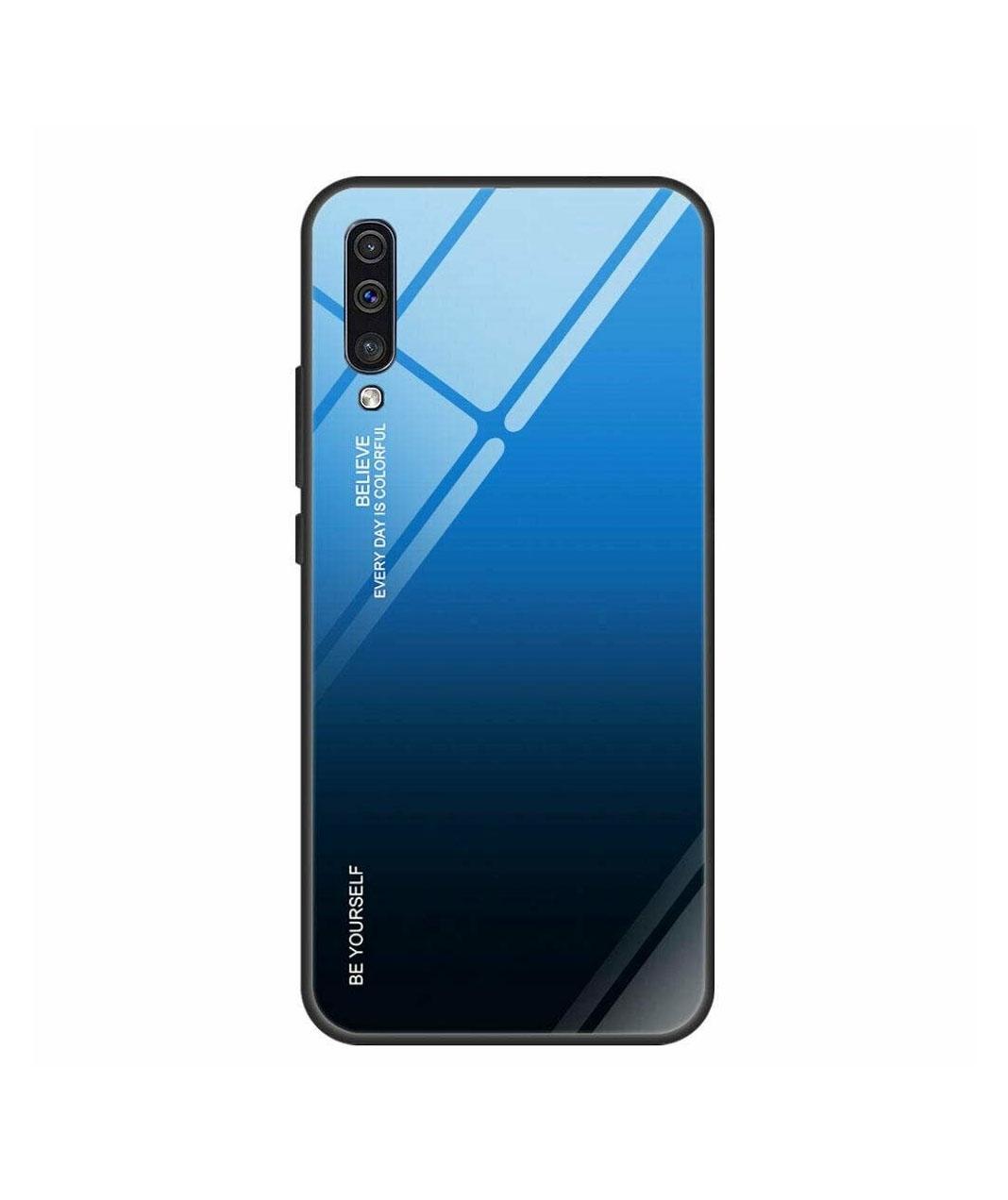 Θήκη Glass Gradient Case για Xiaomi Redmi Note 7 Black-Blue