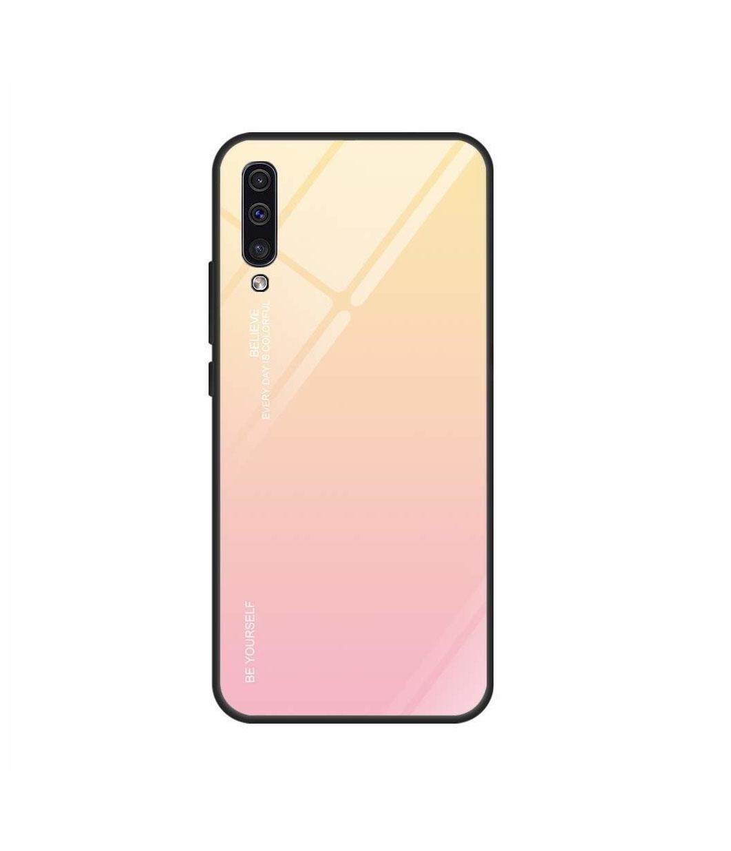 Θήκη Glass Gradient Case για Xiaomi Redmi Note 8 Pro Light Pink