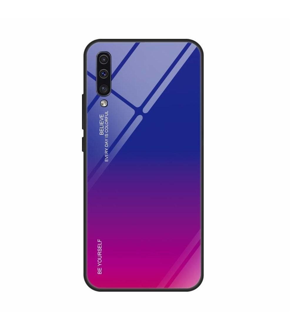 Θήκη Glass Gradient Case για Xiaomi Redmi Note 8 Pro Blue-Pink