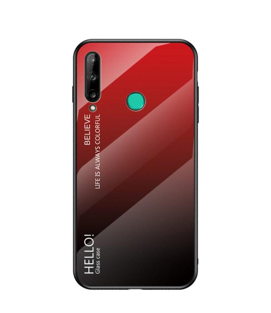 Θήκη Y7p Glass Case Gradien για Huawei P40 Lite Red-Black
