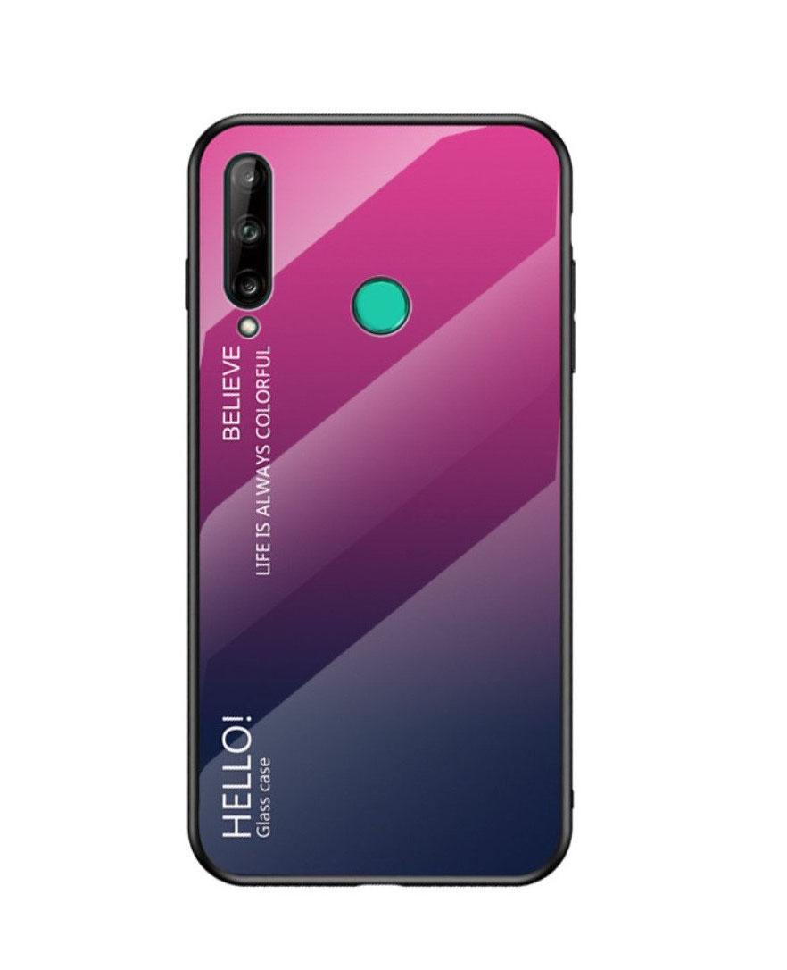 Θήκη Y7p Glass Case Gradien για Huawei P40 Lite Rose-Dark Blue