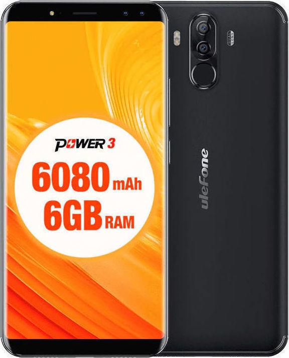 Ulefone Power 3 64GB Dual Black EU (Δώρο Screen Protector + Θήκη) Πληρωμή έως 12 δόσεις