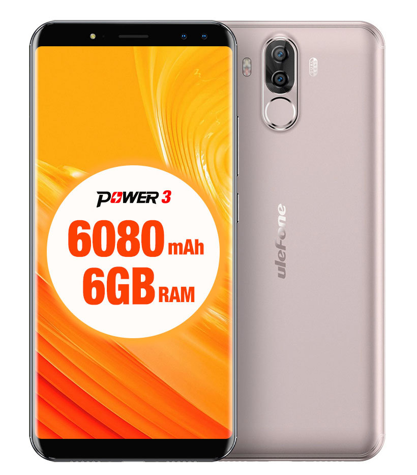 Ulefone Power 3 64GB Dual Gold EU (Περιλαμβάνει Screen Protector + Θήκη) Πληρωμή έως 12 δόσεις