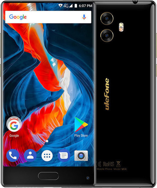 Ulefone Mix S 16GB Dual Black EU (Δώρο Screen Protector + Θήκη + Ring Holder 360°)  Πληρωμή έως 12 δόσεις