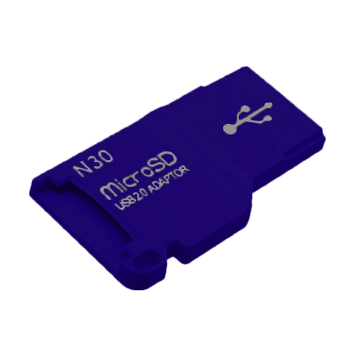CARD READER MICRO SD USB 2.0 - USB FLASH DRIVE BLUE