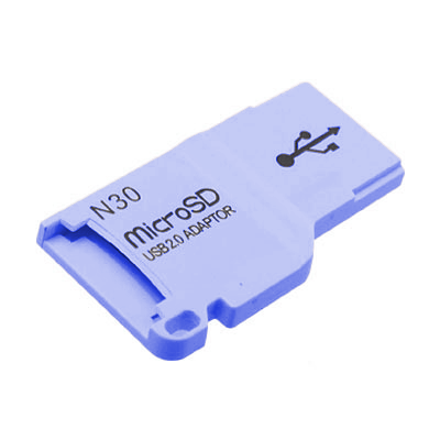 CARD READER MICRO SD USB 2.0 - USB FLASH DRIVE LIGHT BLUE