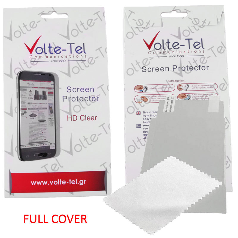 "VOLTE-TEL SCREEN PROTECTOR LG X POWER K220 5.3"" CLEAR FULL COVER"