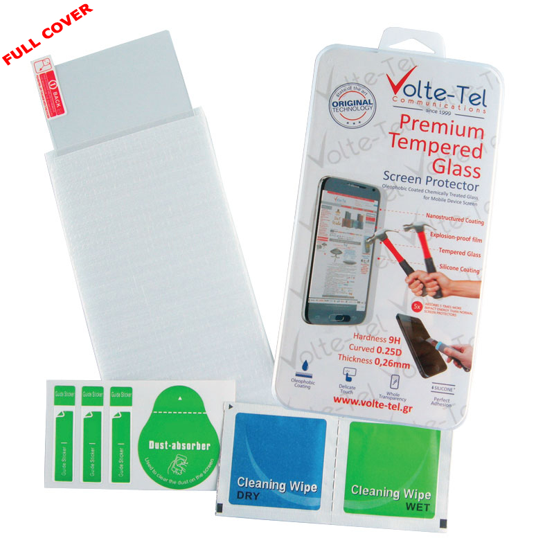 "VOLTE-TEL TEMPERED GLASS LG LEON H340N 4.5"" 9H 0.26mm 2.5D FULL GLUE FULL COVER"