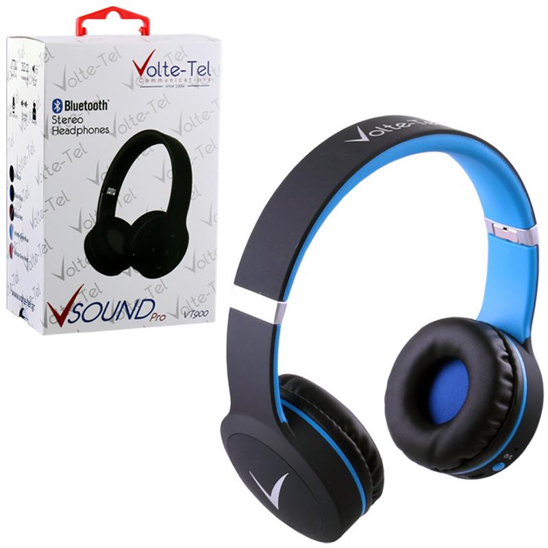 STEREO BLUETOOTH HEADPHONES V SOUND PRO VT900 BLACK-BLUE VOLTETE