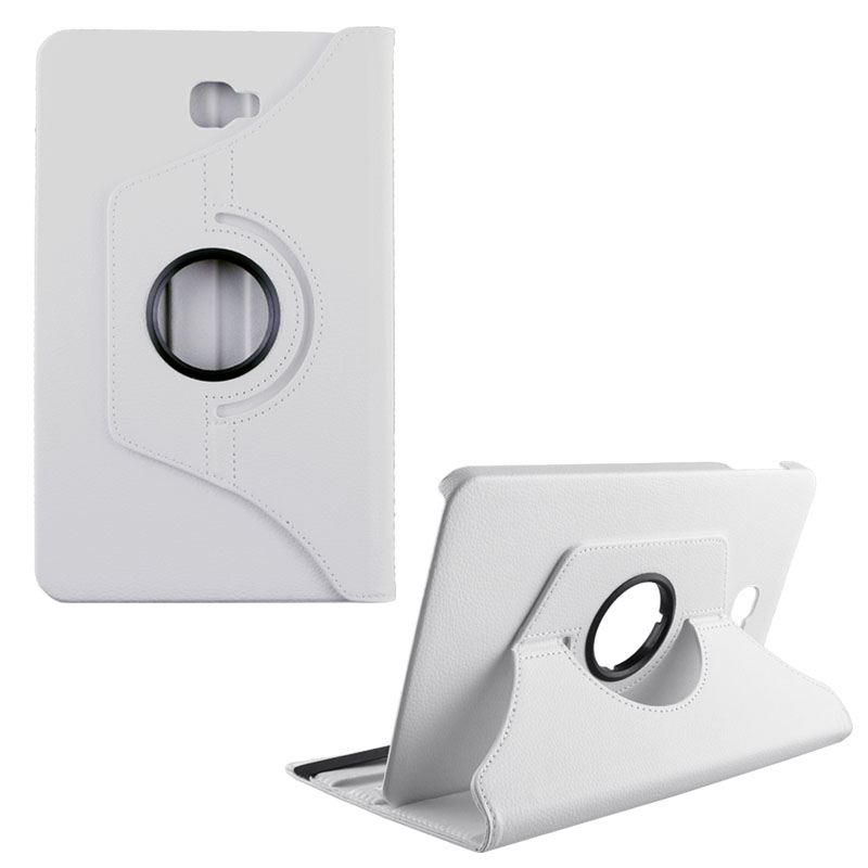 """VOLTE-TEL ΘΗΚΗ SAMSUNG TAB A T580 10.1"""" LEATHER BOOK ROTATING STAND WHITE"""