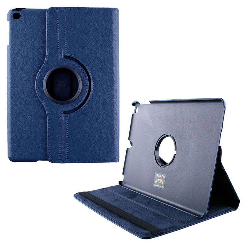 """VOLTE-TEL ΘΗΚΗ IPAD 9.7"""" 2017 LEATHER BOOK ROTATING STAND BLUE"""