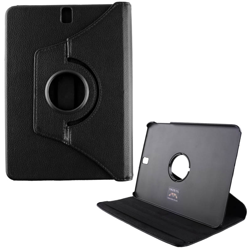 """VOLTE-TEL ΘΗΚΗ SAMSUNG T820 TAB S3 9.7"""" LEATHER BOOK ROTATING STAND BLACK"""
