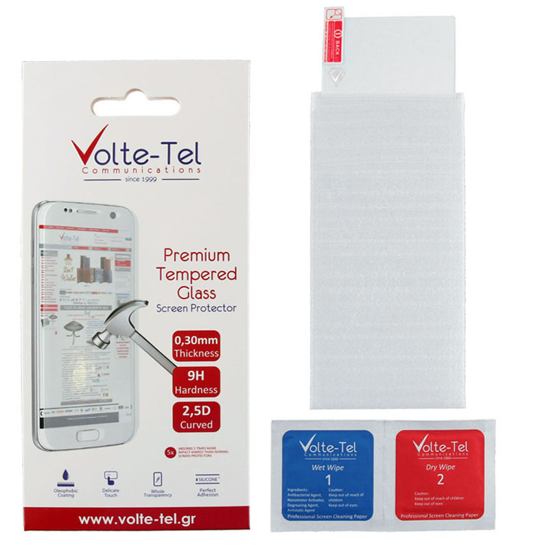 "VOLTE-TEL TEMPERED GLASS SONY XPERIA XA1 PLUS 5.5"" 9H 0.30mm 2.5D FULL GLUE"