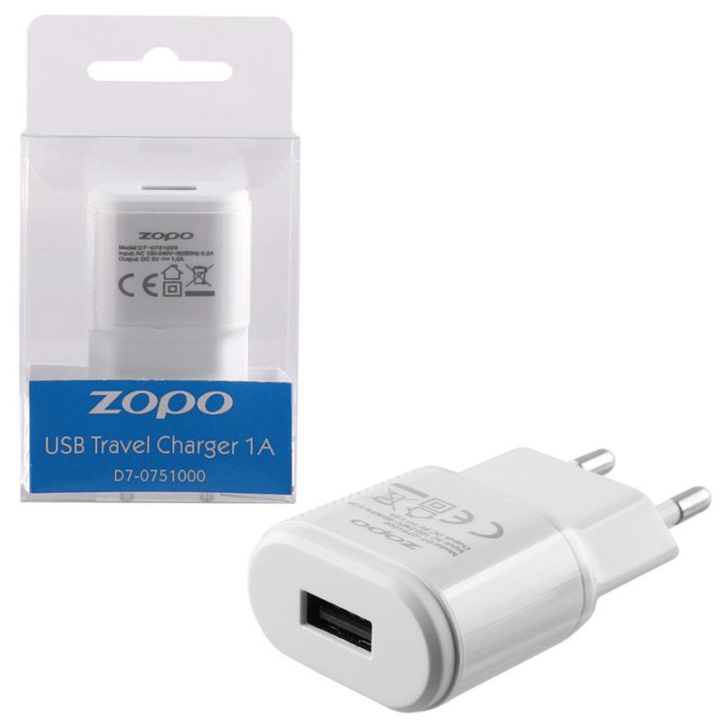 TRAVEL ZOPO D7-0751000 C5i ZP567 USB 1000mA WHITE OR