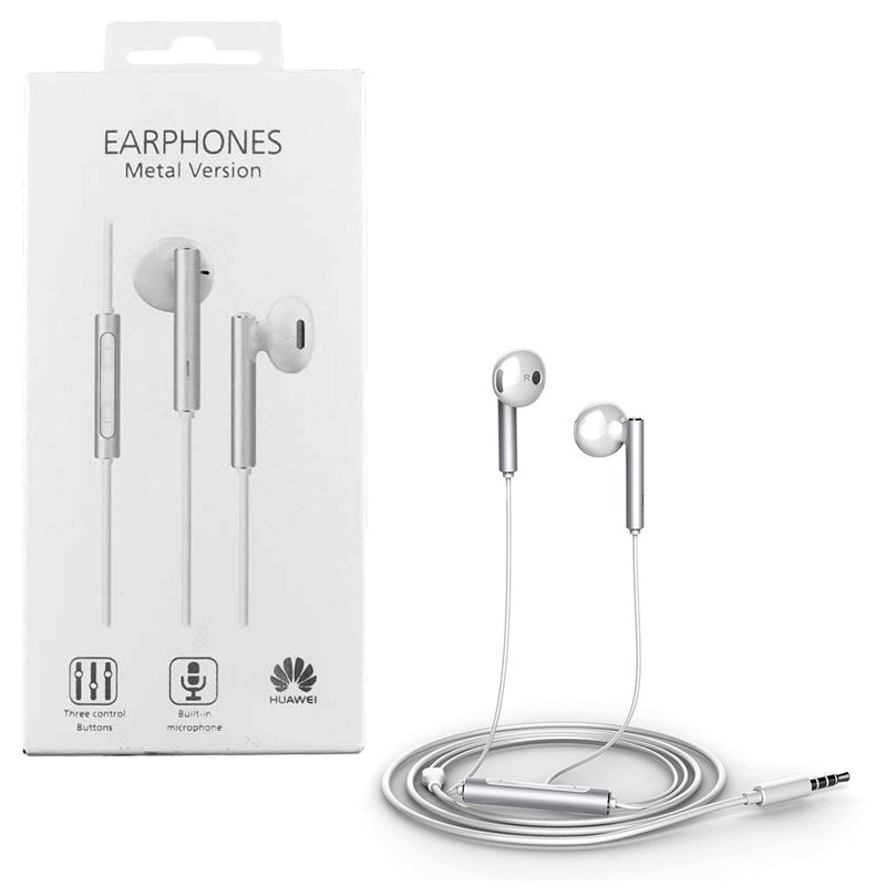 H/F STEREO HUAWEI AM116 P8 LITE/P9 LITE 3.5mm METAL VERSION WHITE PACKING OR