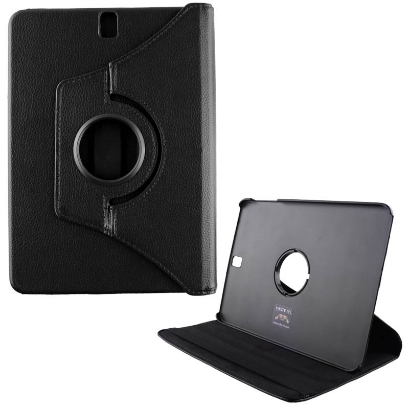 """VOLTE-TEL ΘΗΚΗ SAMSUNG T590/T595 TAB A 10.5"""" LEATHER BOOK ROTATING STAND BLACK"""