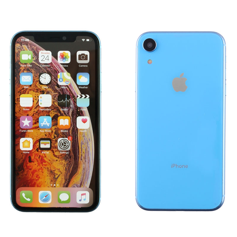 """DUMMIES IPHONE XR 6.1"""" PLASTIC BATTERY COVER BLUE"""