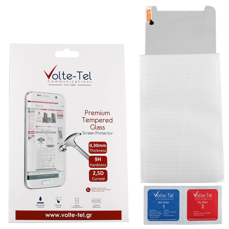 "VOLTE-TEL TEMPERED GLASS SAMSUNG TAB E T375/T377 8.0"" 9H 0.30mm 2.5D FULL GLUE FULL COVER"