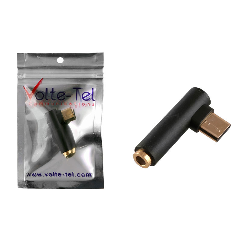VOLTE-TEL ΜΕΤΑΤΡΟΠΕΑΣ GOLD PLATED AUDIO JACK 3.5MM TO TYPE C BLACK