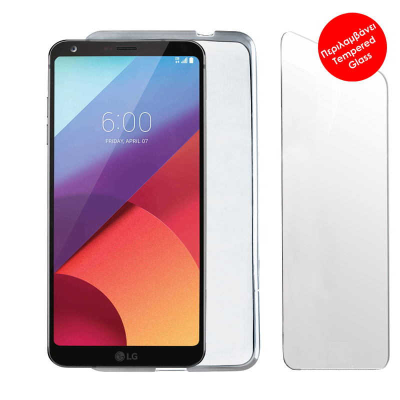 "VOLTE-TEL COMBO LG G6 H870 5.7"" TEMPERED 0.30 + ΘΗΚΗ SLIMCOLOR WHITE"
