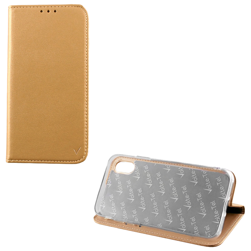 "VOLTE-TEL ΘΗΚΗ HUAWEI Y6 2018/HONOR 7A 5.7"" POCKET MAGNET BOOK STAND GOLD"