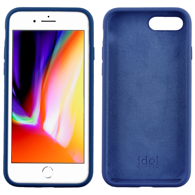 "IDOL 1991 ΘΗΚΗ IPHONE 8/7 PLUS 5.5"" VELVET TPU 4 SIDE BLUE"
