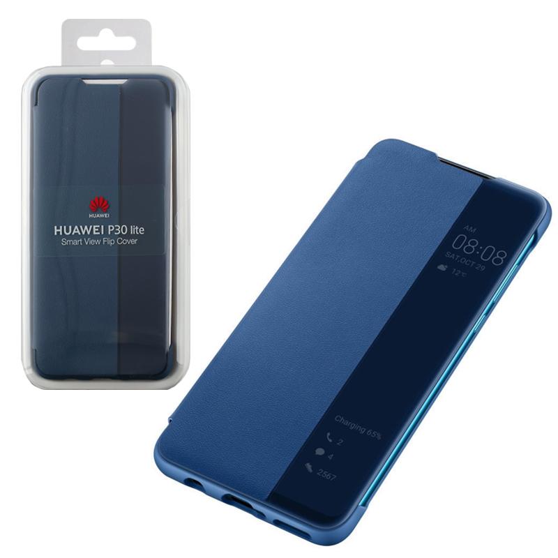ΘΗΚΗ HUAWEI P30 LITE VIEW FLIP COVER 51993077 BLUE PACKING OR