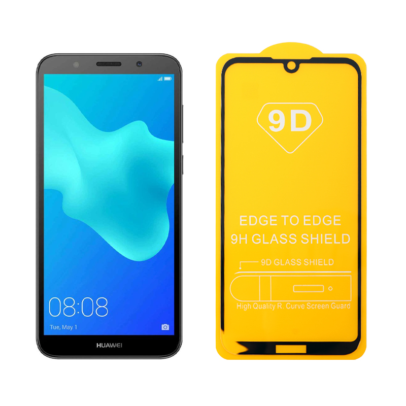 """IDOL 1991 TEMPERED GLASS HUAWEI Y5 2019/HONOR 8S 5.71"""" 9H 0.25mm 9D FULL GLUE SPECIAL FULL COVER BLACK"""