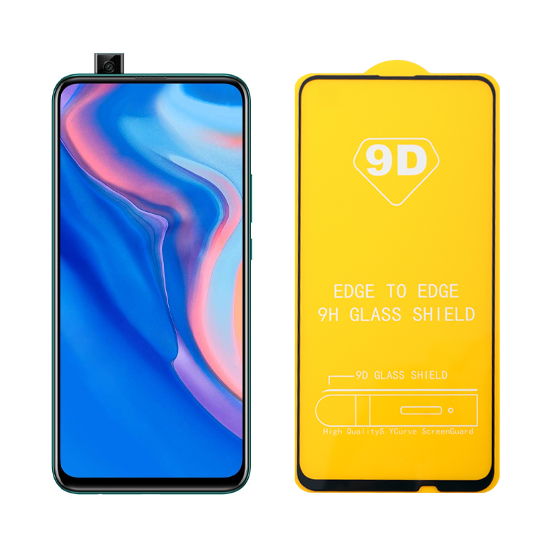 """IDOL 1991 TEMPERED GLASS HUAWEI P SMART Z/Y9 PRIME 2019 6.59"""" 9H 0.25mm 9D FULL GLUE SPECIAL FULL COVER BLACK"""