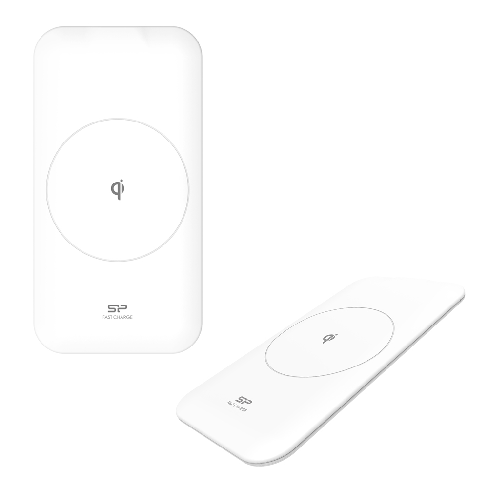 WIRELESS CHARGER SILICON POWER QI210 5W/10W (ANDROID) - 7.5W(IOS) 9V/5V MICRO USB WHITE PACK OR