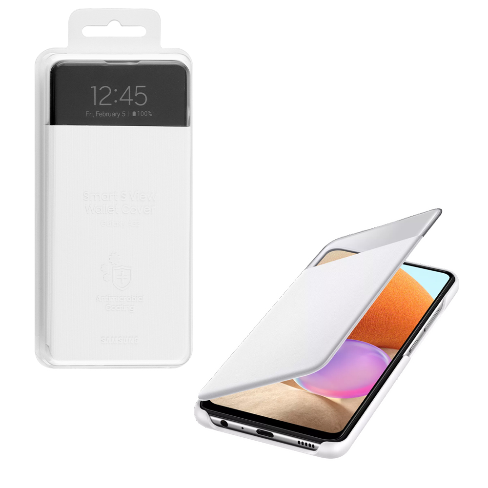 ΘΗΚΗ SAMSUNG A32 4G A325 S VIEW WALLET COVER EF-EA325PWEGEE WHITE PACKING OR