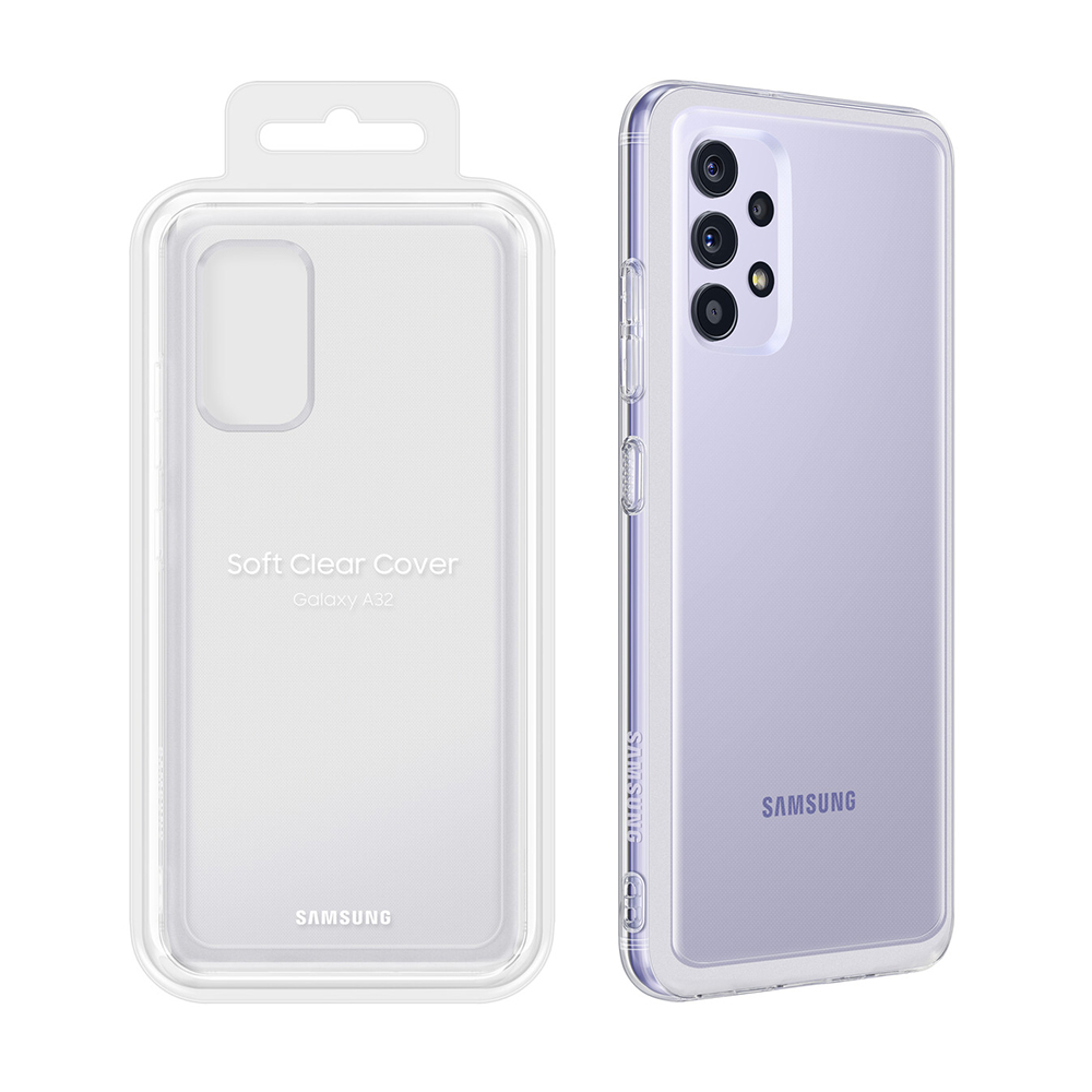 "ΘΗΚΗ SAMSUNG A32 4G A325 6.4"" SOFT CLEAR COVER EF-QA325TTEGWW TRANSPARENT PACKING OR"