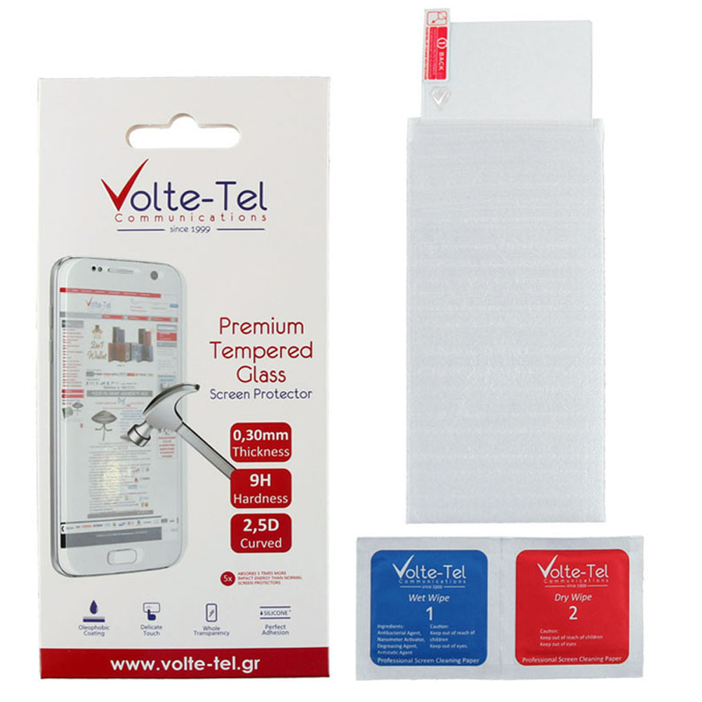 "VOLTE-TEL TEMPERED GLASS TCL 20SE T671H 6.82"" 9H 0.30mm 2.5D FULL GLUE"