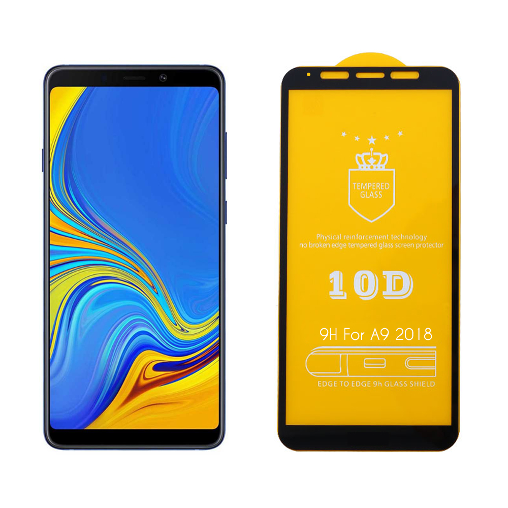 """IDOL 1991 TEMPERED GLASS SAMSUNG A9 2018 A920 6.3"""" 9H 0.25mm 10D FULL GLUE SPECIAL FULL COVER BLACK"""
