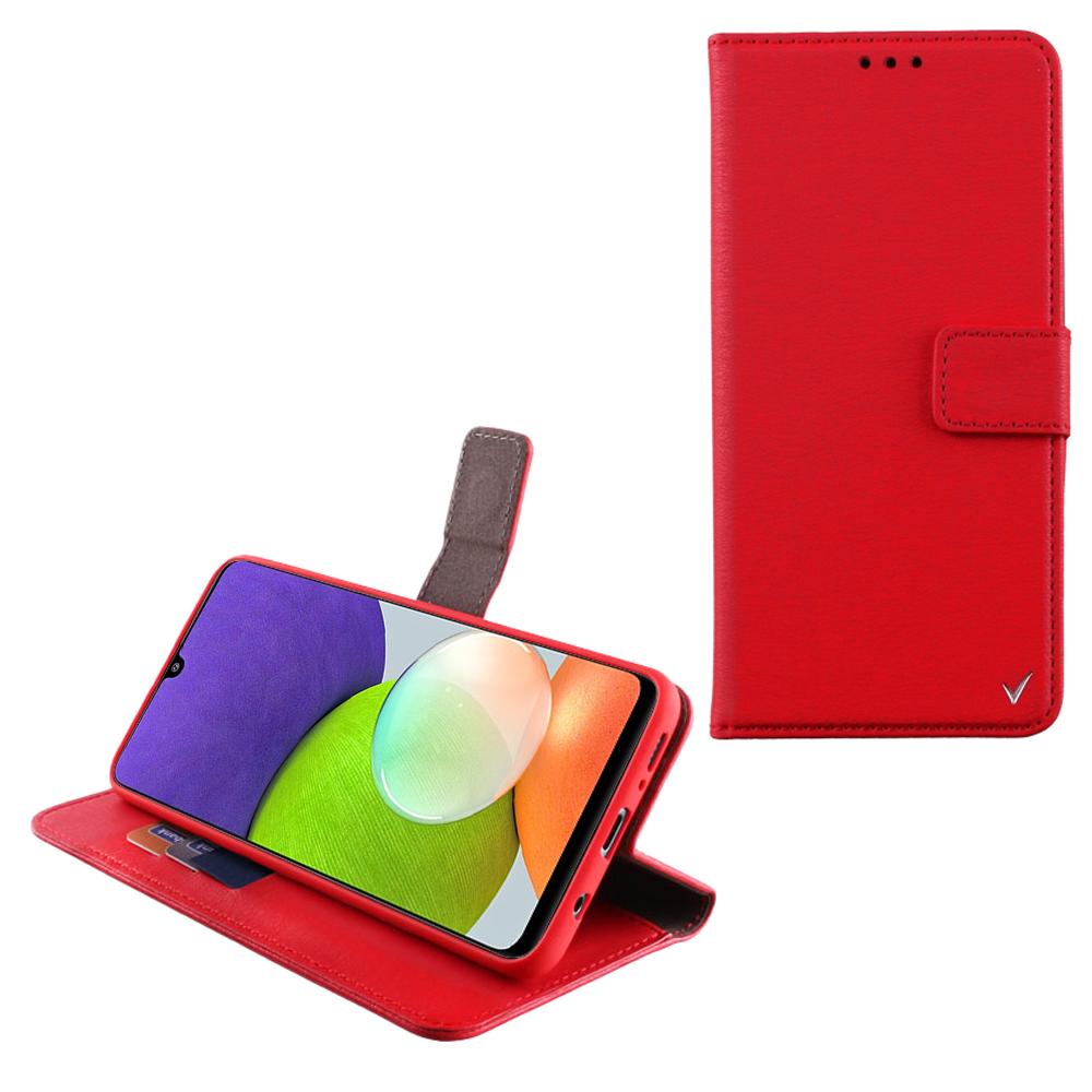 "VOLTE-TEL ΘΗΚΗ SAMSUNG A22 4G A225 6.4"" ALLURE MAGNET BOOK STAND CLIP RED"