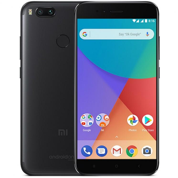 Xiaomi Mi A1 32GB Dual Black (Ελληνικό Μενού - Global Version) (Δώρο Tempered Glass + Θήκη) Πληρωμή έως 12 δόσεις
