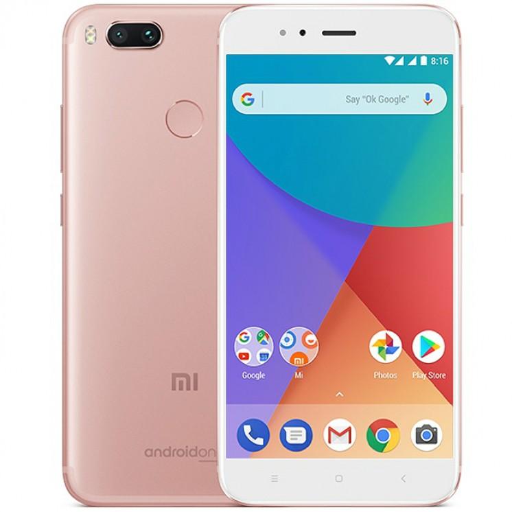 Xiaomi Mi A1 32GB Dual Pink (Ελληνικό Μενού) (Δώρο Tempered Glass + Θήκη) Πληρωμή έως 12 δόσεις