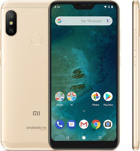 Xiaomi Mi A2 Lite 32GB Dual Gold (Ελληνικό Μενού - Global Version) (Δώρο Tempered Glass, Περιλαμβάνει Θήκη) Πληρωμή έως 24 δόσεις