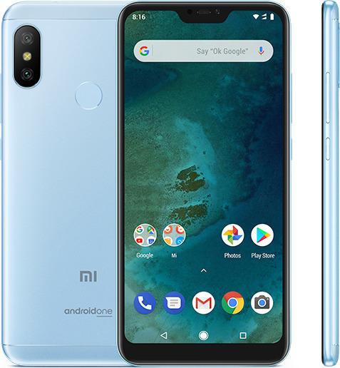 Xiaomi Mi A2 Lite 64GB Dual Blue (Ελληνικό Μενού - Global Version) (Δώρο Tempered Glass, Περιλαμβάνει Θήκη) Πληρωμή έως 24 δόσεις