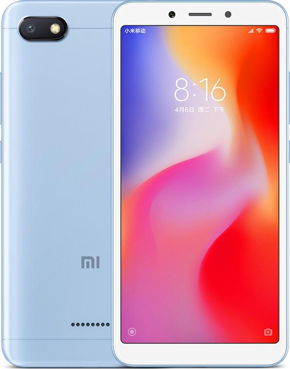 Xiaomi Redmi 6A 16GB 2GB Ram Dual Blue (Ελληνικό Μενού - Global Version) (Δώρο Tempered Glass + Θήκη) Πληρωμή έως 24 δόσεις